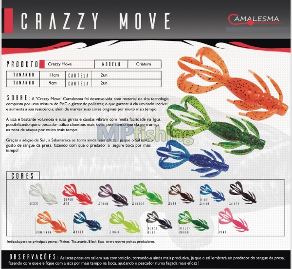 CRAZZY MOVE CAMALESMA